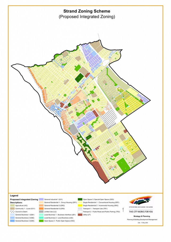City of Cape Town Integrated Zoning Scheme: Maps | @planning Scheme Map on